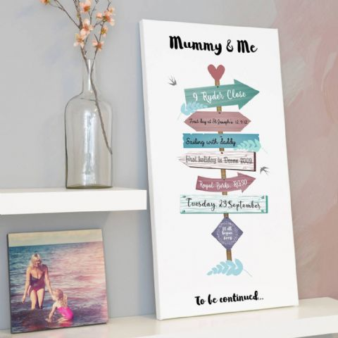 Personalised Sign Post Of Memories